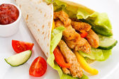 Kebab - grilled meat and vegetables — Foto de Stock