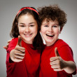 Kids showing OK sign — Stock Photo #8766954