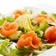 Royalty-Free Stock Photo: Salad - smoked salmon, brad and vegetables