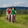 Family riding bikes — Stock Photo #9670859