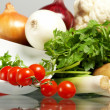Stock Photo: Fresh Vegetables, Fruits and other foodstuffs.