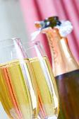 Champagne and glass — Stock Photo