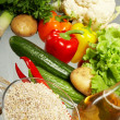 Fresh Vegetables, Fruits and other foodstuffs. — Stock Photo #10514312