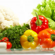 Fresh Vegetables. Fruits and other foodstuffs. — Stock Photo