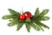 красный мяч, рождество — Стоковое фото