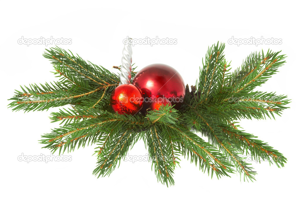 Red ball,  christmas  Stock Photo #10514344