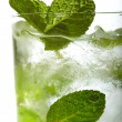 Stock Photo: Mint ice vodka