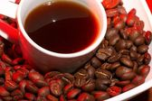 Red hot coffee — Stock Photo