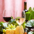 Wine and Cheese still life — Stock Photo #10554375