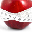 Apples measured  the meter, sports apples - 图库照片