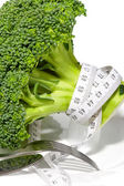 Broccoli diet meter — Stock Photo