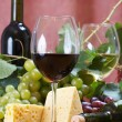 Stock Photo: Wine and Cheese still life