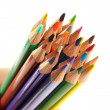 Stock Photo: Color pencils on white background