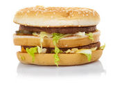Hamburger with cheese and lettuce — Stock Photo