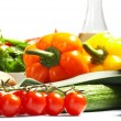 Fresh Vegetables, Fruits and other foodstuffs. — Foto de Stock