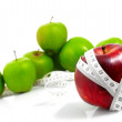 Stock Photo: Apples measured meter, sports apples