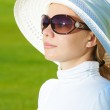 Lady in hat — Stock Photo