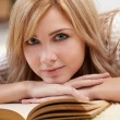 Beautiful woman with book — Stock Photo #9038077
