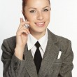 Beautiful woman with mobile phone — Stock Photo