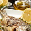 Fish with lemon — Foto de Stock