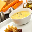Stock Photo: Cream soup with toasts