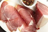 Dry cured ham with spice — Stock Photo