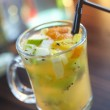 Cocktail with fruits — Stock Photo