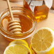 honey and lemon — Stock Photo