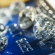 Diamonds and money — Stockfoto