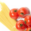 Tomatoes with spaghetti — Stock Photo