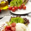 Tomatoes with mozzarella — Stock Photo #9047952