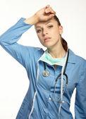 Cerrah'ın maskesi ile tıp doktoru — Stok fotoğraf