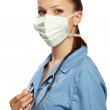 Medical doctor in the surgeon's mask — Stock Photo