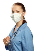 Medical doctor in the surgeon's mask — 图库照片