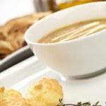 Mushroom cream soup — Stock Photo #9223655