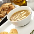 Mushroom cream soup — Stock Photo