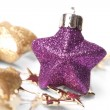 Стоковое фото: Christmas stars on the white background