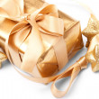 Beautiful golden gift — Stock Photo #9226563
