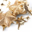 Christmas stars on the white background — Stok fotoğraf