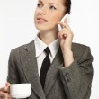 Business woman holding cup of coffee. — Stock Photo #9226689