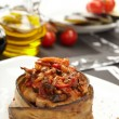 Stuffed eggplant — Stock Photo