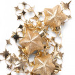 Foto de Stock  : Christmas stars on the white background