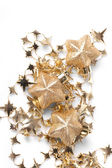 Christmas stars on the white background — Stock Photo