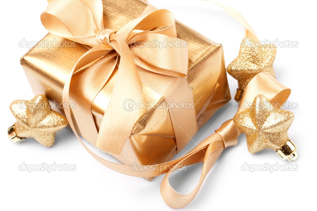 Beautiful golden gift  Stock Photo #9226563