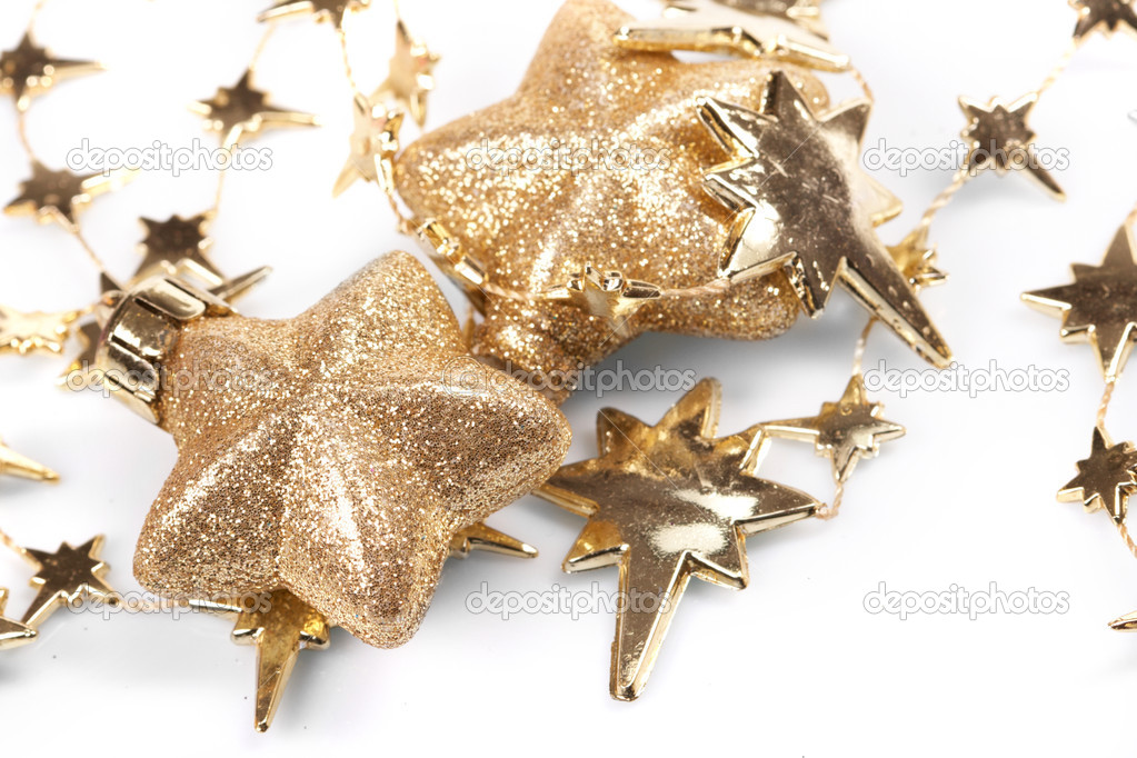 Christmas stars on the white background — Stock Photo #9226636
