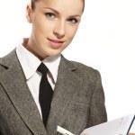 Businesswoman wih personal organizer — Stock Photo #9247412