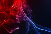 Smoke on the black background — Stock Photo