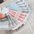 Foto Stock: Hand with money