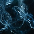 Smoke on the black background — Foto Stock