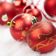 Christmas balls on the white background — Stock Photo